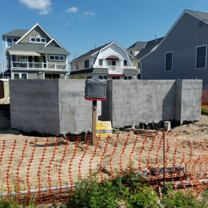 Foundation Started Custom Beach Home Manasquan, NJ
